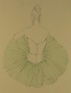 Messina-Ballerina con tutu verde