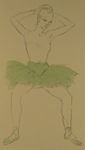 Messina-ballerina col tutu verde.